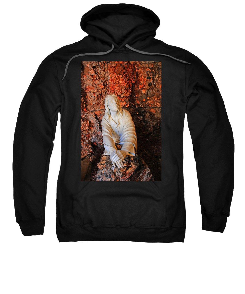 Jesus Christ Sweatshirt featuring the photograph Jesus Christ by Susanne Van Hulst