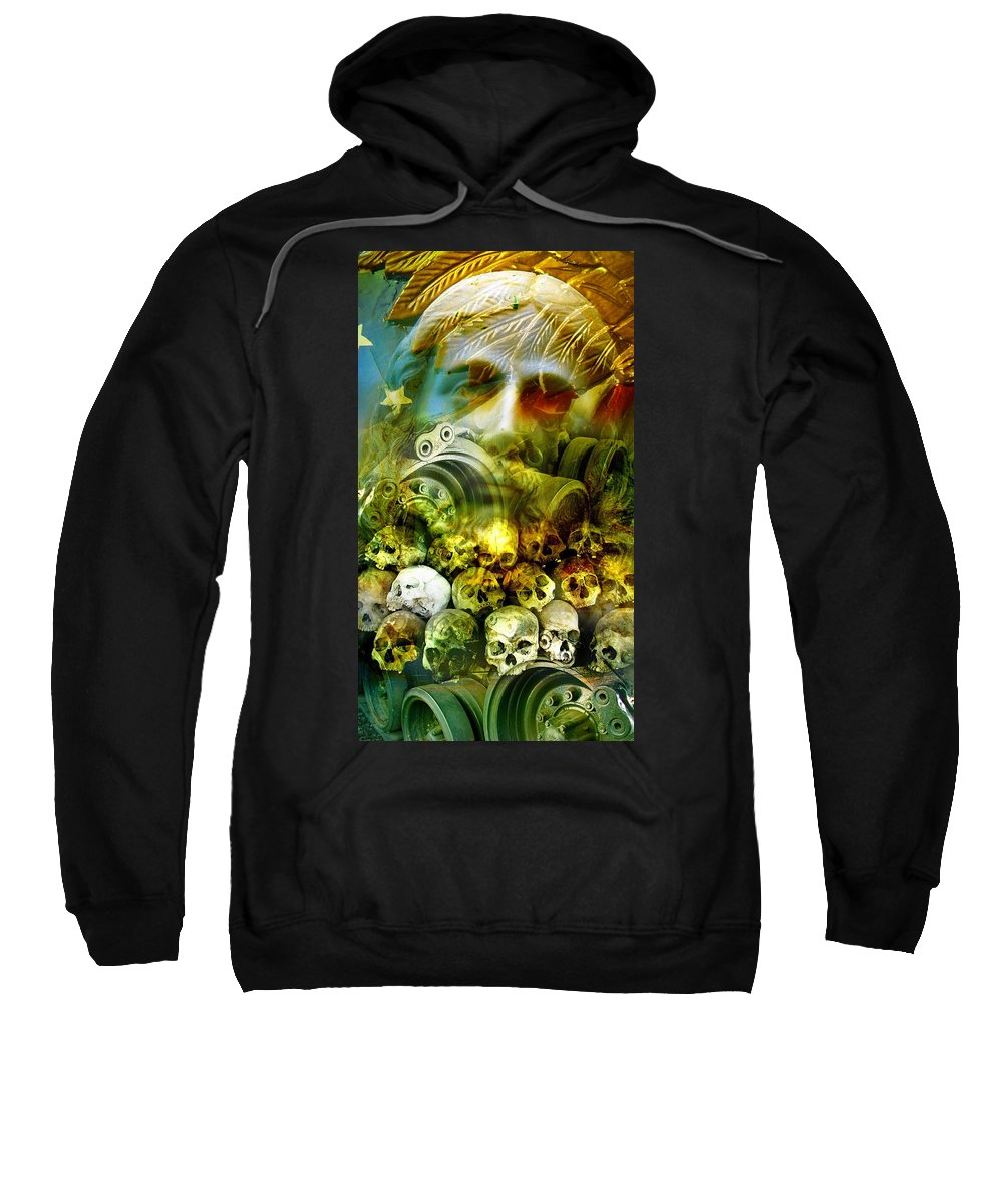 Jesus Sweatshirt featuring the photograph Jesus Wept by Skip Hunt