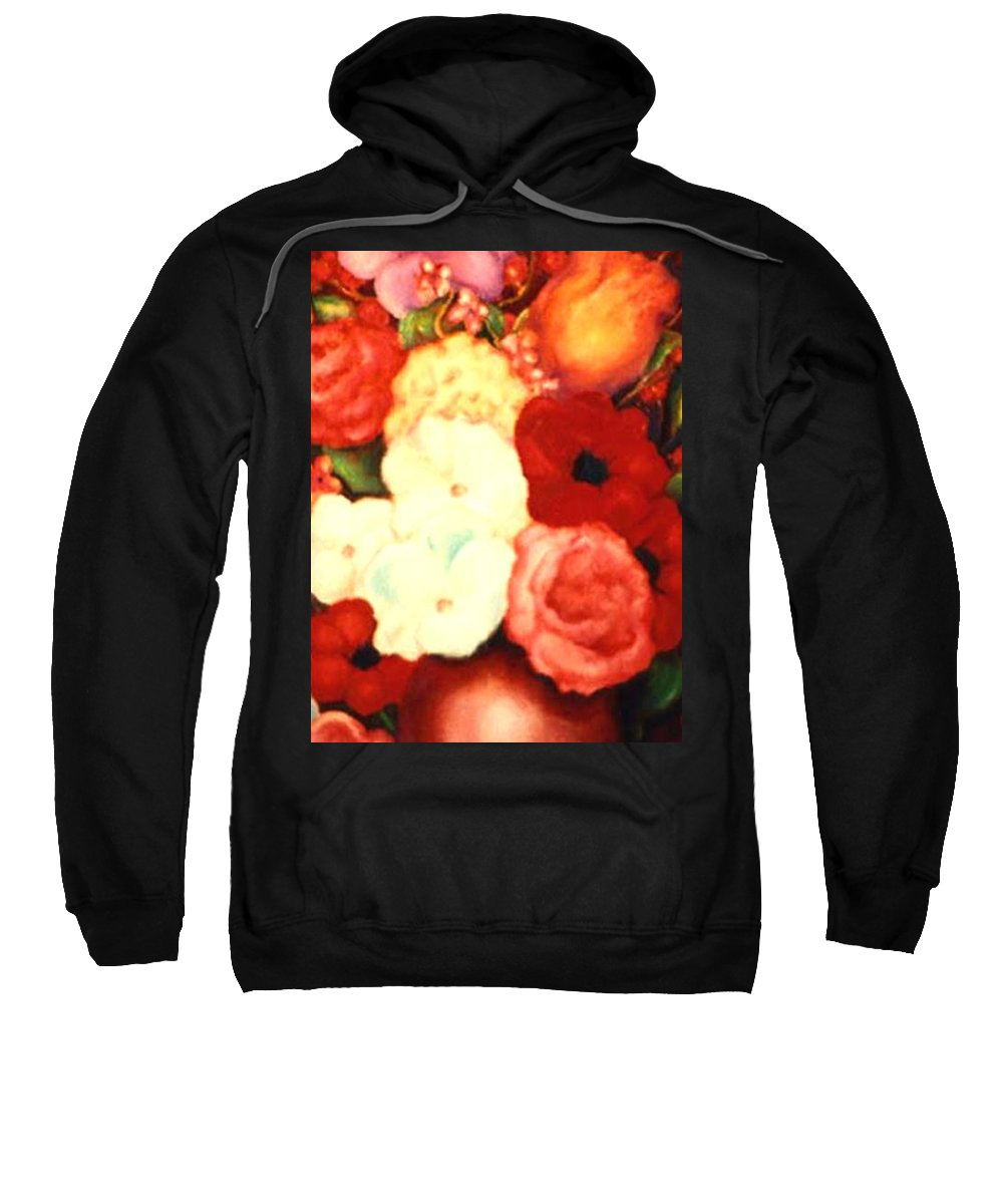 Flowers Sweatshirt featuring the painting Jewel Flowers by Jordana Sands