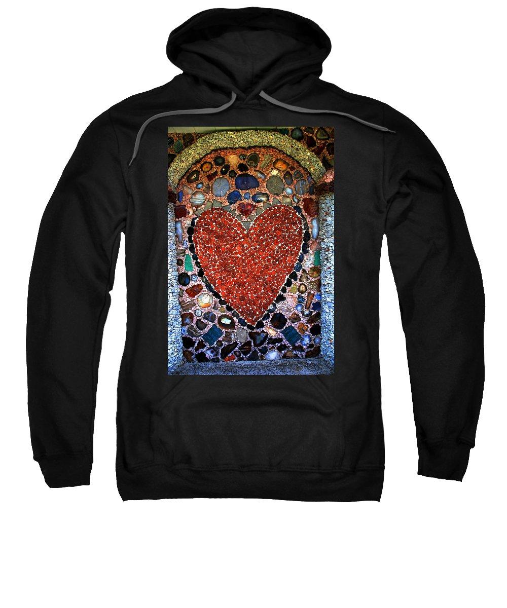 Jewel Heart Sweatshirt featuring the photograph Jewel Heart by Susanne Van Hulst
