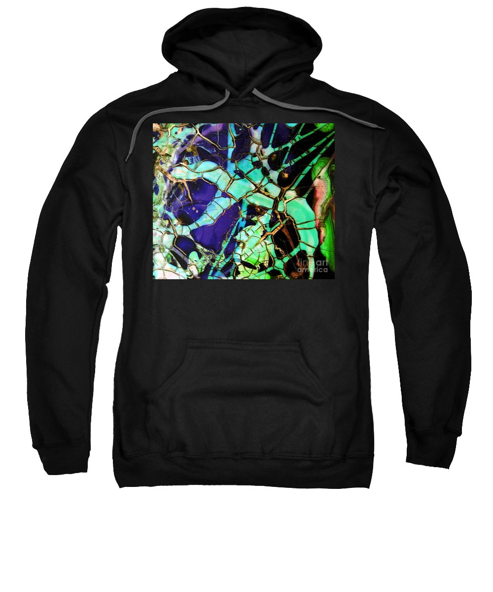 Jewels Sweatshirt featuring the painting Jewels by Dawn Hough Sebaugh