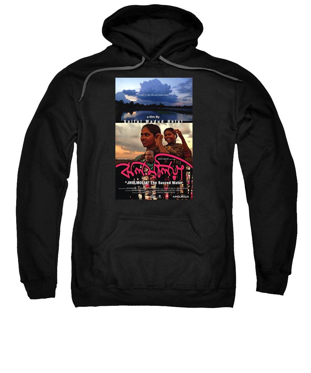 Cine-poster Sweatshirt featuring the digital art Jholmolia 2 by Rabi Khan