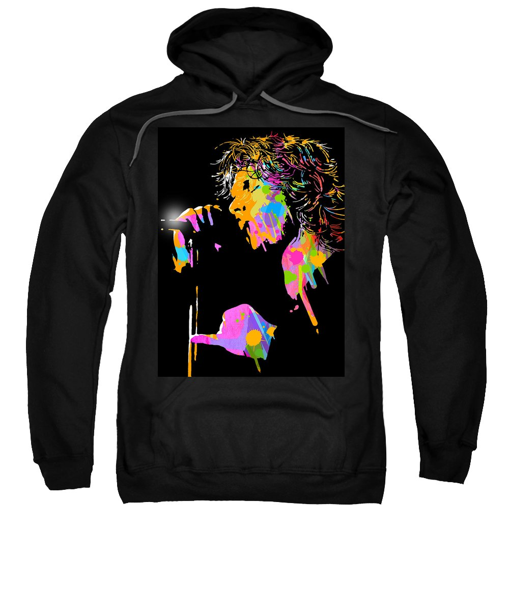 Blues Sweatshirt featuring the painting Jim Morrison by Paul Sachtleben