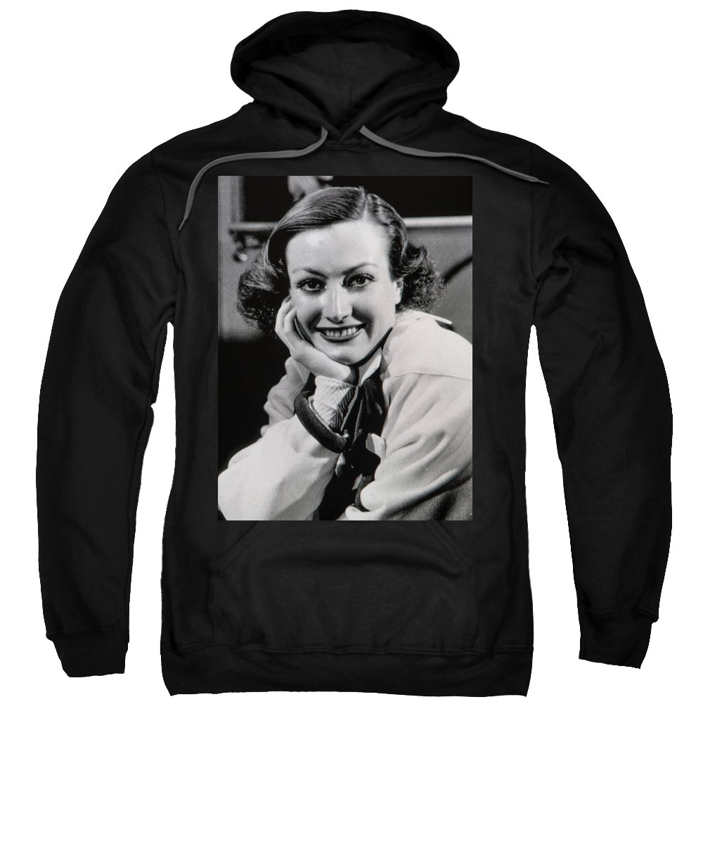 Media Room Sweatshirt featuring the photograph Joan Crawford by Thomas Whitehurst