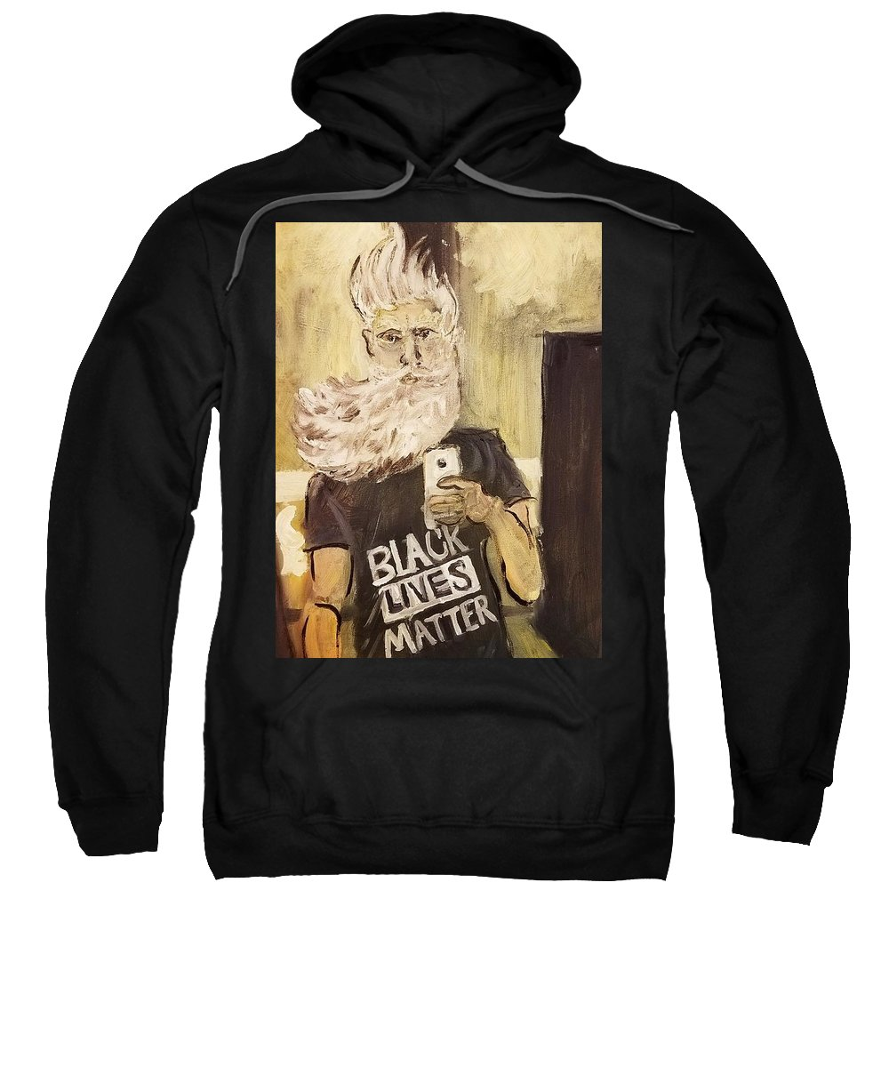 John Brown Sweatshirt featuring the painting John Brown Selfie by Nell King