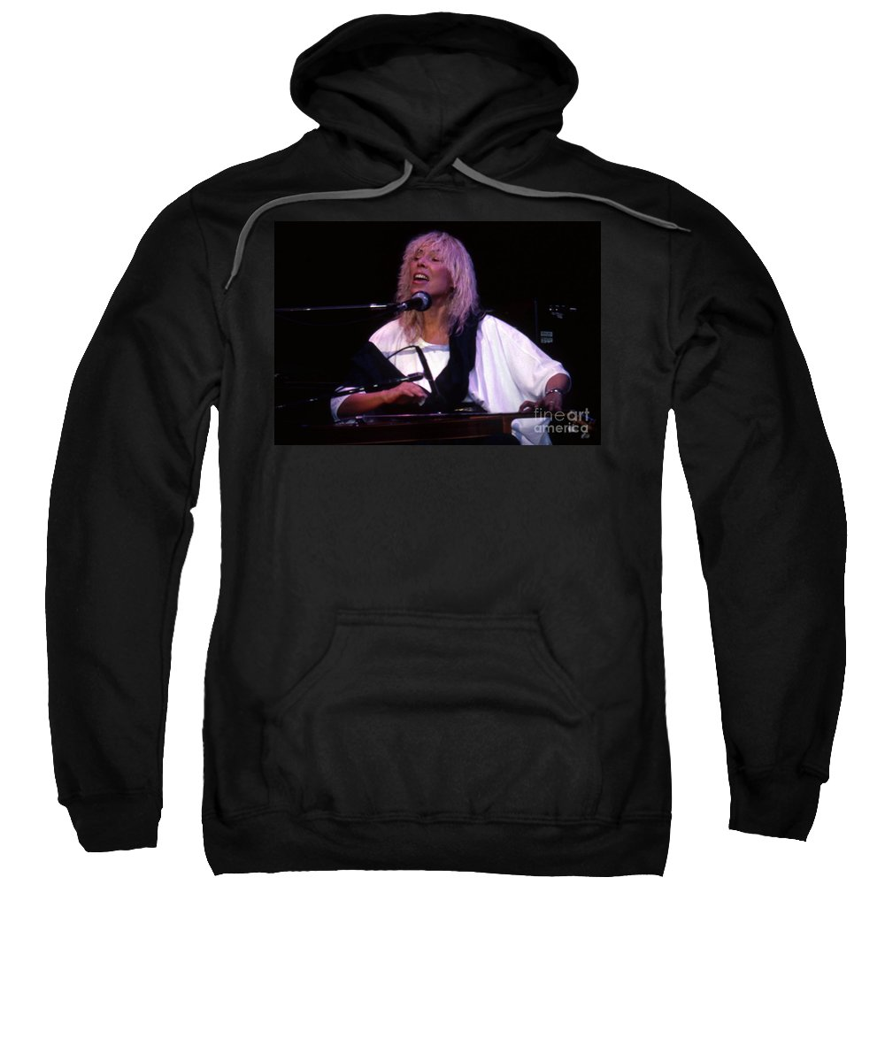 Joni Mitchell Sweatshirt featuring the photograph Joni Mitchell 02 Clarkston Michigan 2000 by Ray Manning