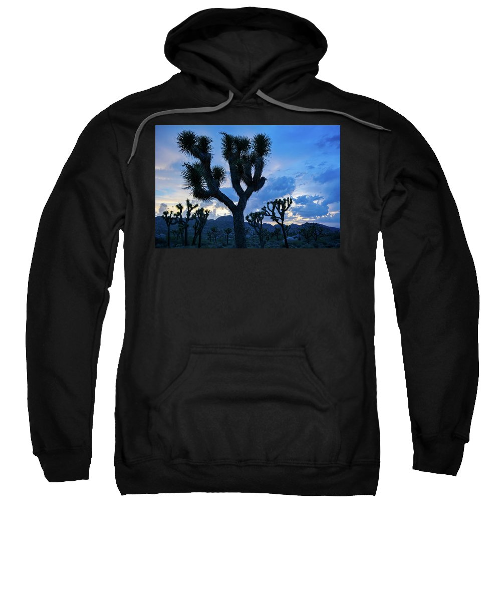 Joshua Tree Sweatshirt featuring the photograph Joshua Tree Sunset Skies by Kyle Hanson