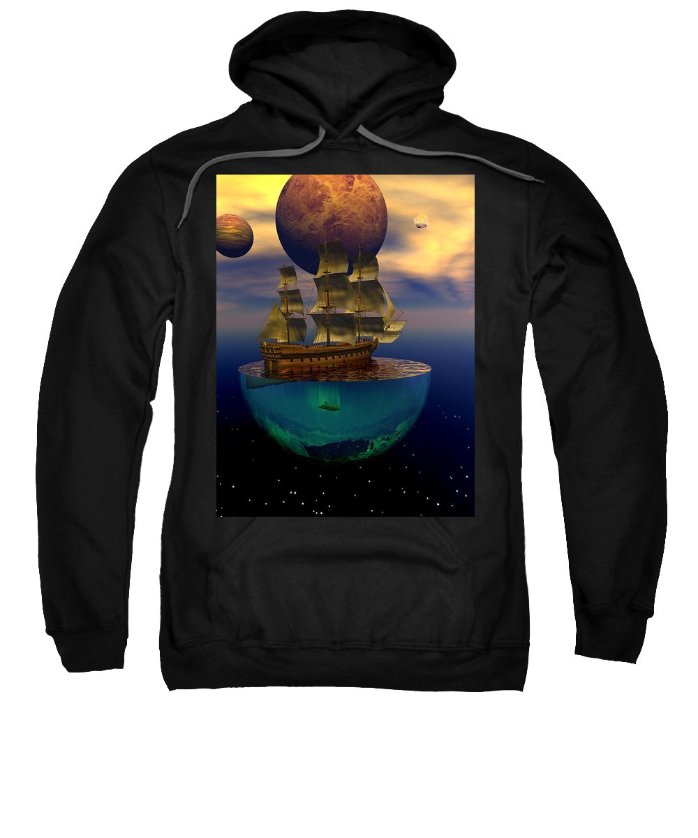 Bryce Sweatshirt featuring the digital art Journey Into Imagination by Claude McCoy