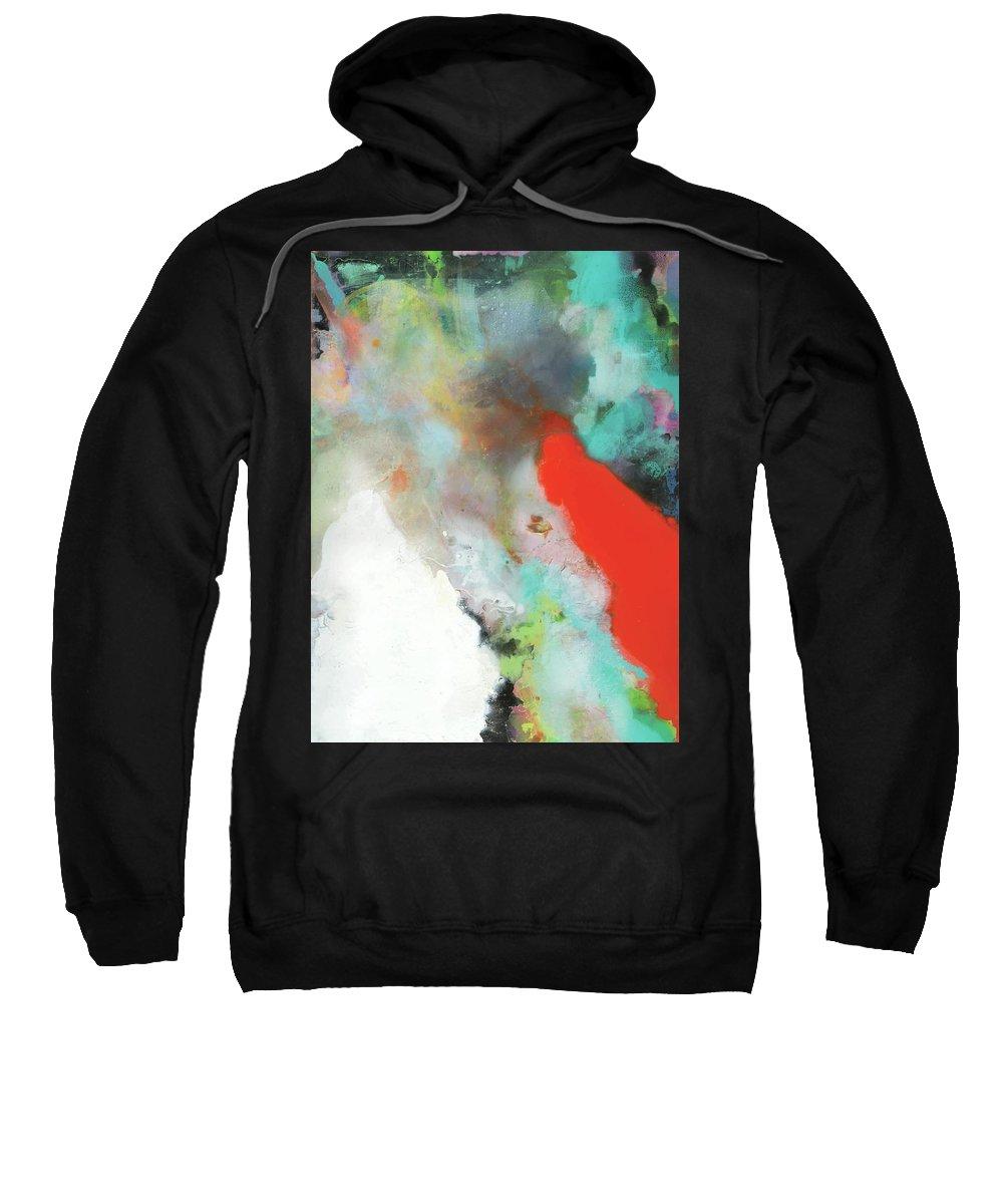 Joyful Sweatshirt featuring the painting Joy by Kofi Dofour