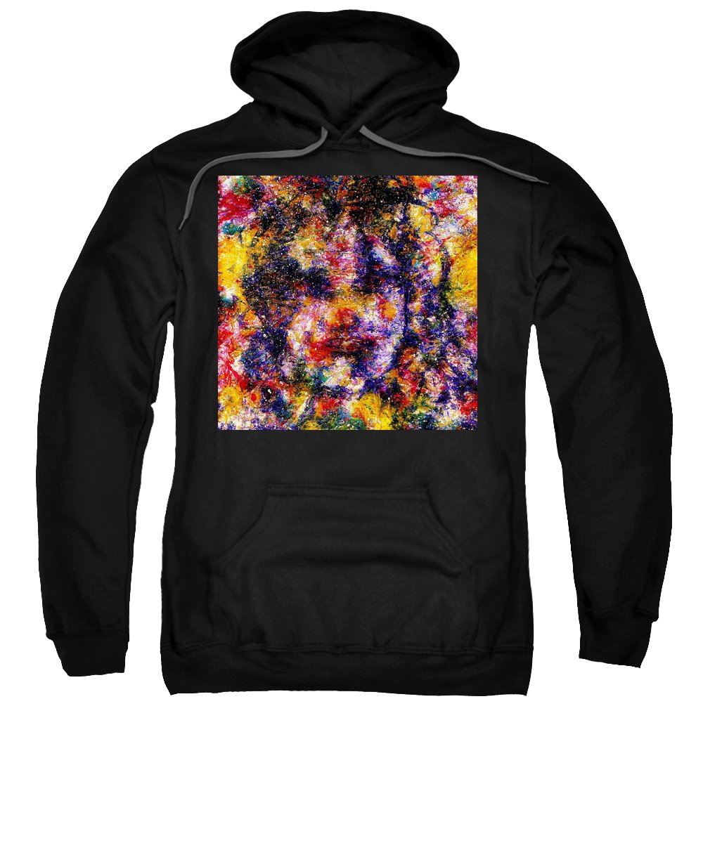 Expressionism Sweatshirt featuring the painting Joyful Clown by Natalie Holland