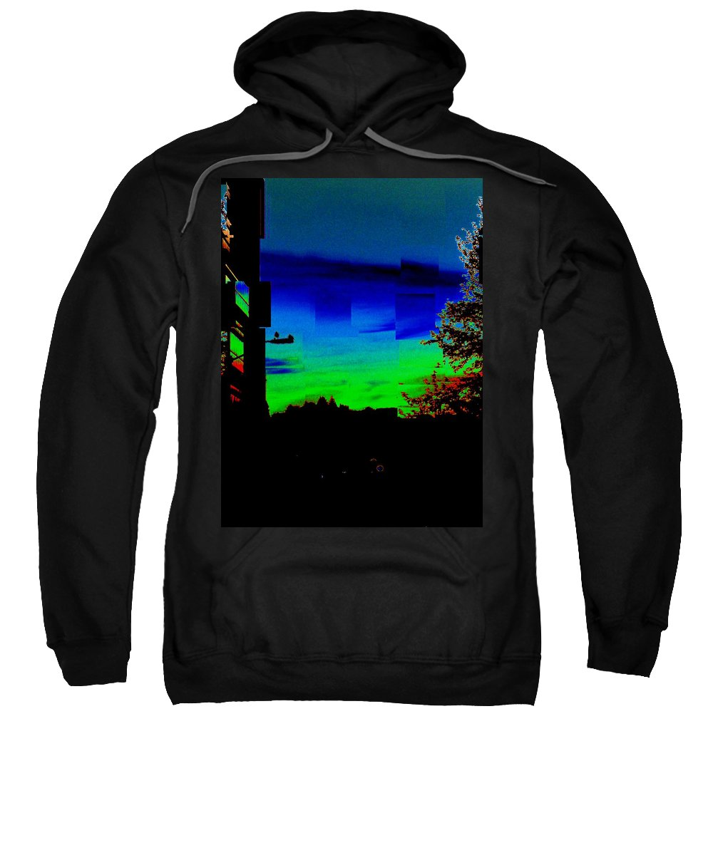 Sunset Sweatshirt featuring the photograph Joyin The Sunset Together by Tim Allen