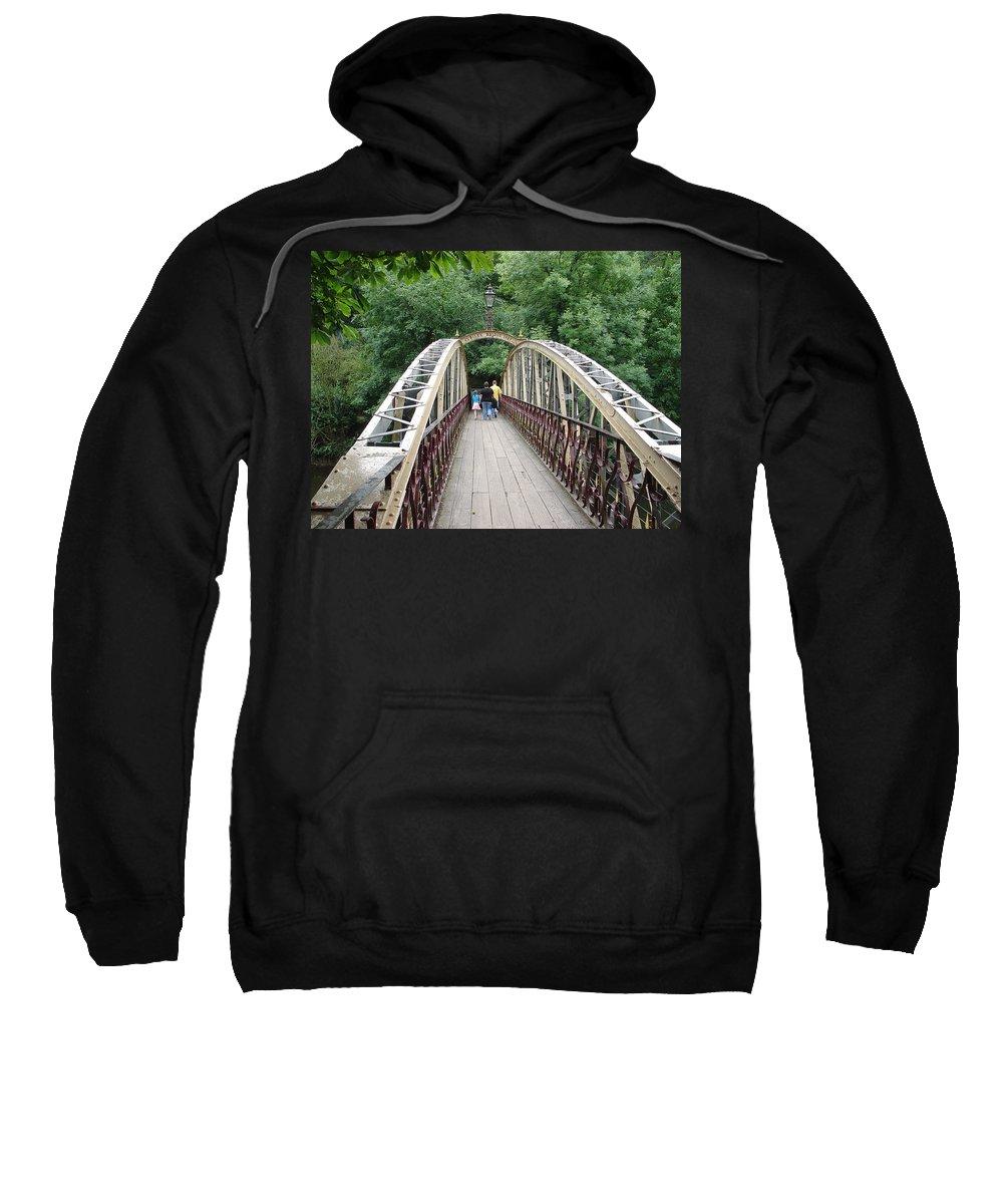 Jubilee Bridge Sweatshirt featuring the photograph Jubilee Bridge - Matlock Bath by Rod Johnson