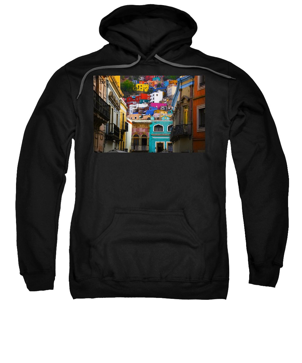 Architecture Sweatshirt featuring the photograph Juegos In Guanajuato by Skip Hunt