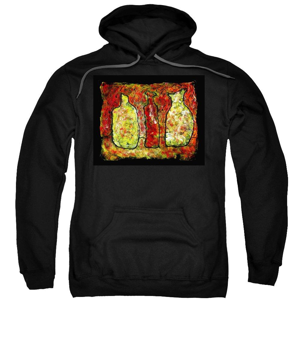 Jugs Sweatshirt featuring the painting Jugs by Wayne Potrafka