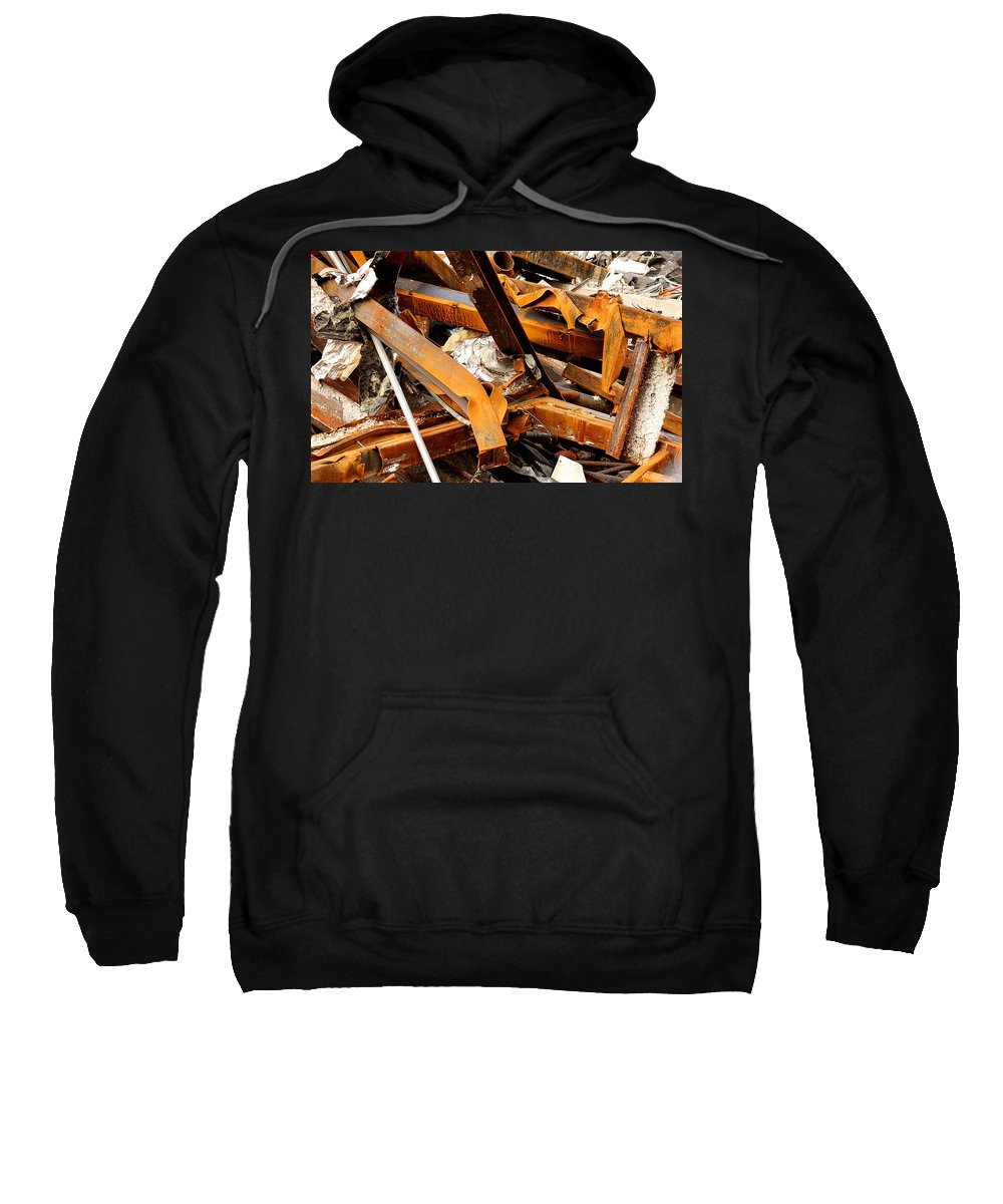Steel Sweatshirt featuring the photograph Jumbled Steel by Jean Macaluso