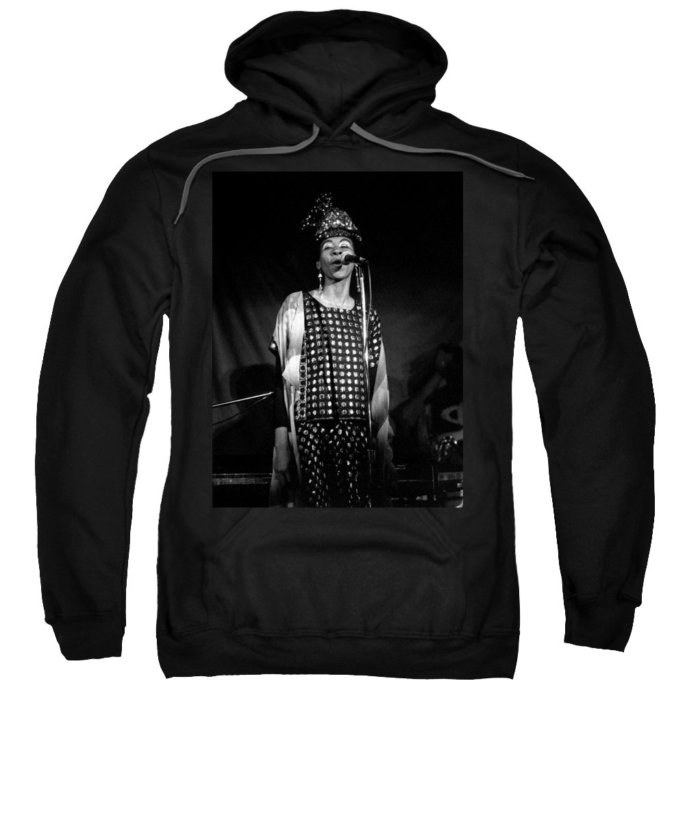June Tyson Sweatshirt featuring the photograph June Tyson by Lee Santa