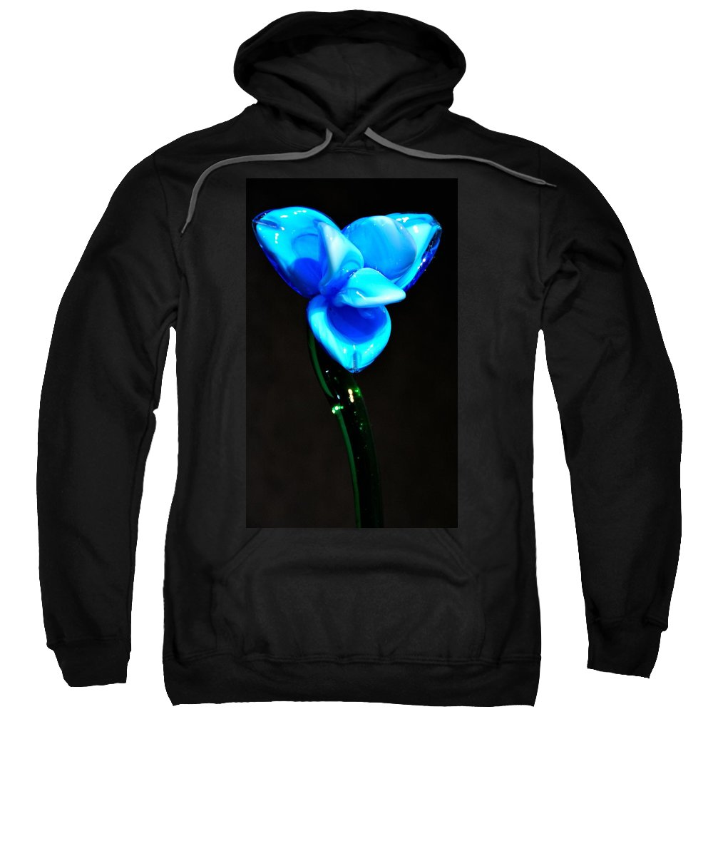 Flower Sweatshirt featuring the photograph Just Blue by Jennifer Wick