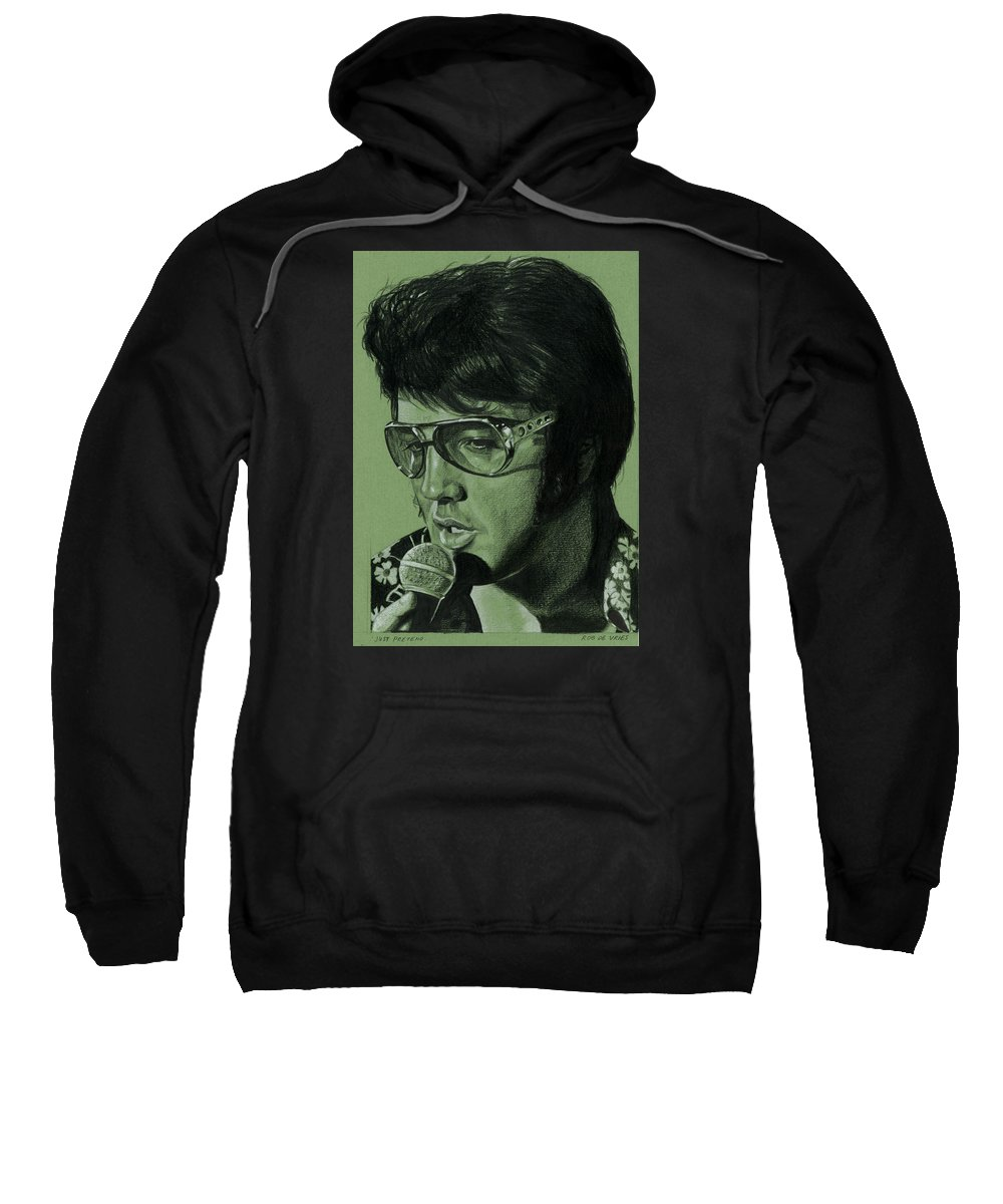 Elvis Sweatshirt featuring the drawing Just Pretend by Rob De Vries