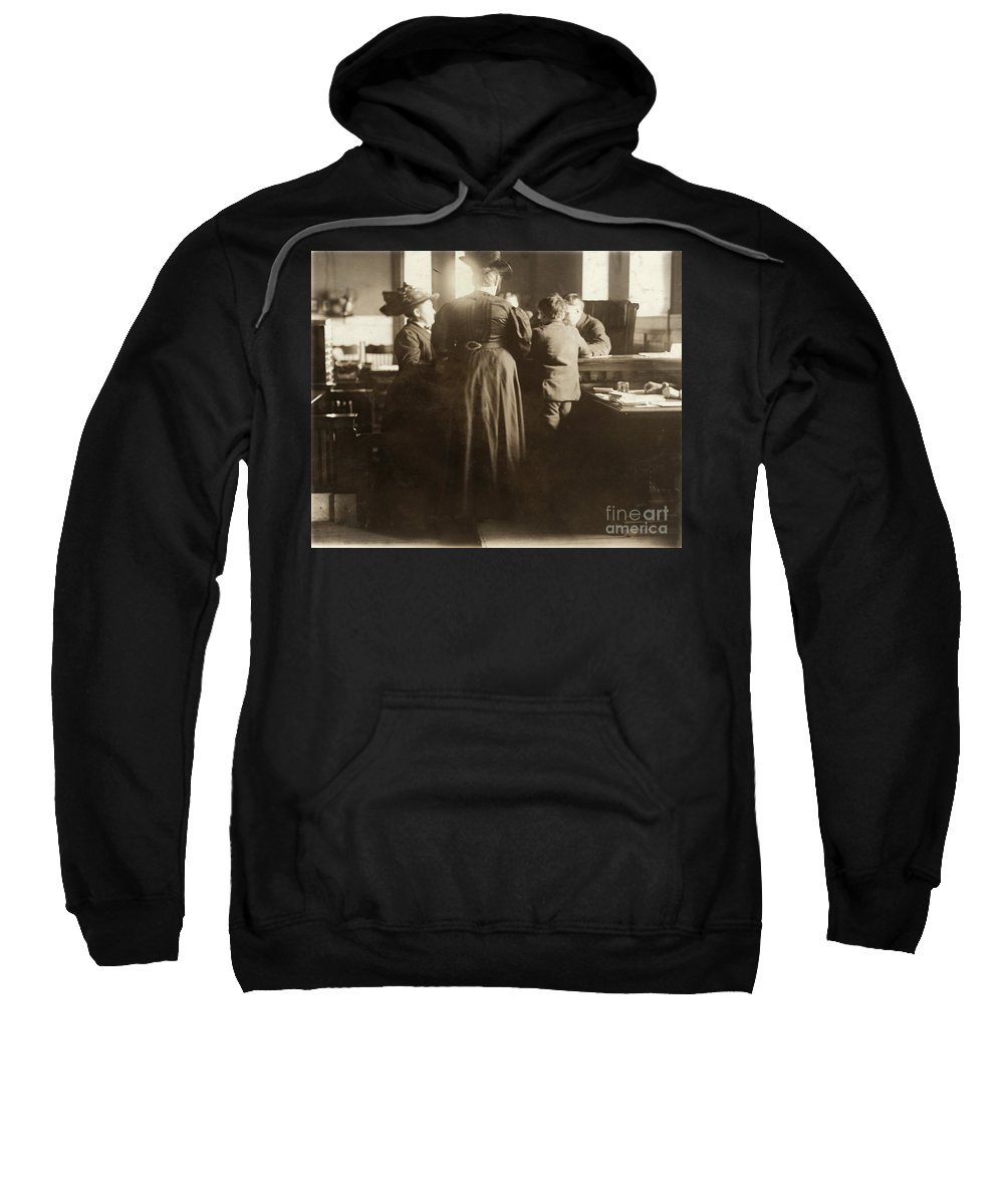 1910 Sweatshirt featuring the photograph Juvenile Court, 1910 by Granger