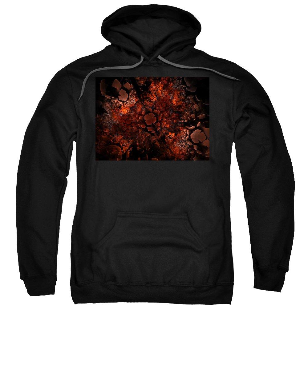 Fractal Sweatshirt featuring the digital art Ka-blam-oh by Lyle Hatch