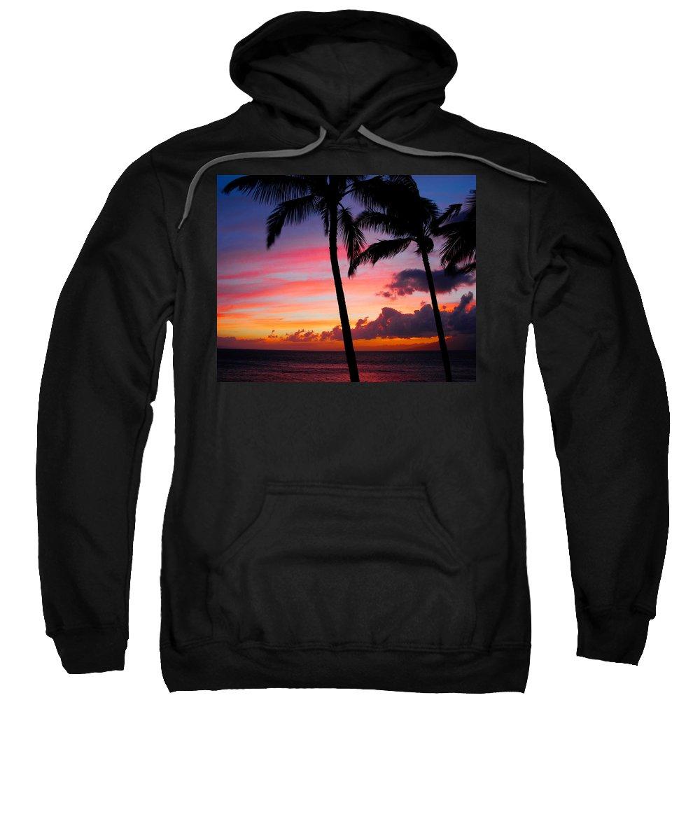 Kaanapali Sunset Sweatshirt featuring the photograph Kaanapali Sunset Kaanapali Maui Hawaii by Michael Bessler