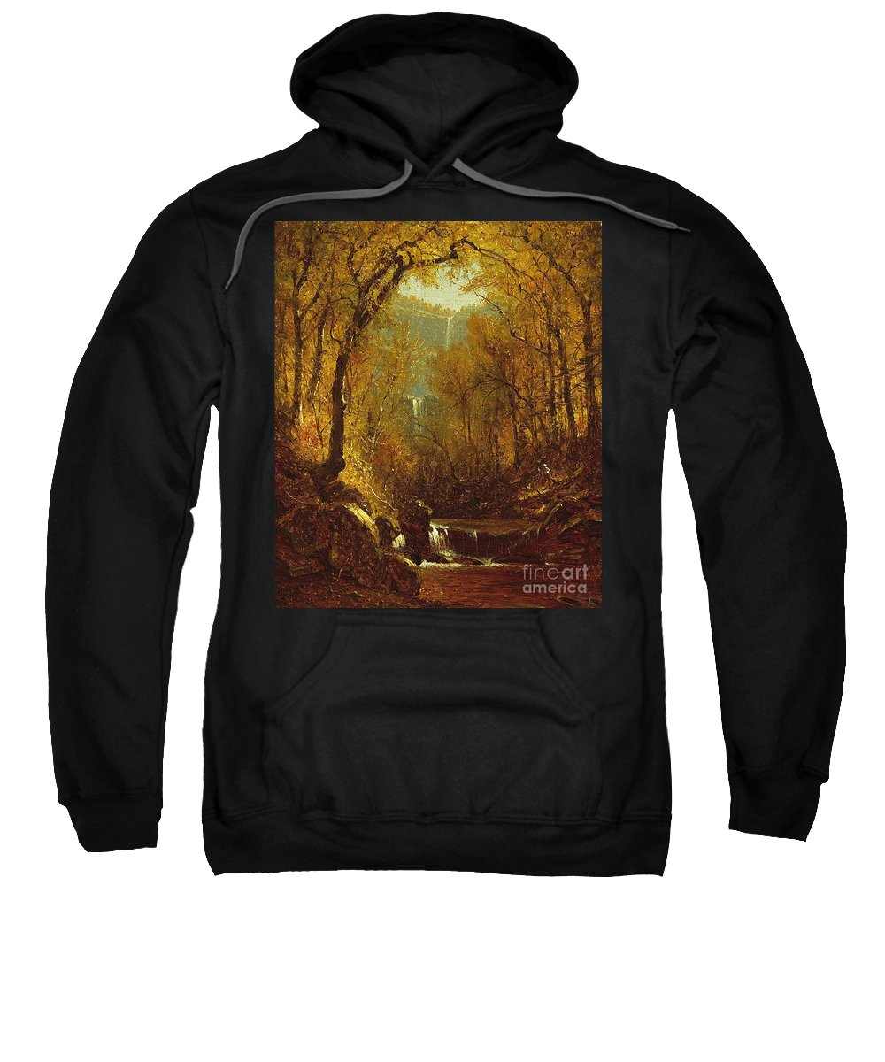Kaaterskill Sweatshirt featuring the painting Kaaterskill Falls by Sanford Robinson Gifford