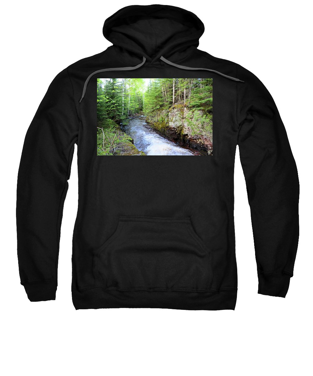 Nature Sweatshirt featuring the photograph Kadunce River 2 by Bonfire Photography