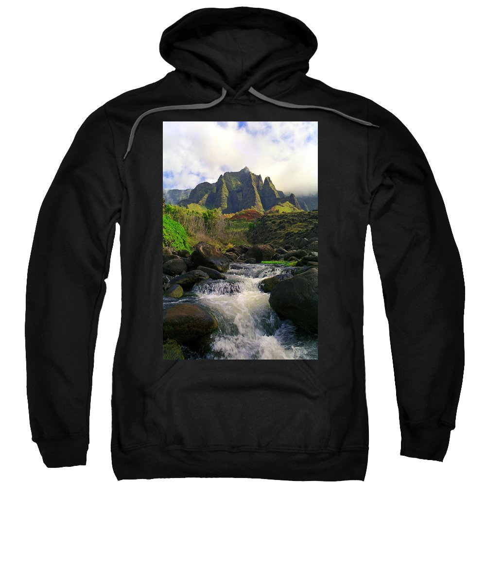Hawaii Sweatshirt featuring the photograph Kalalau Cathedral by Kevin Smith