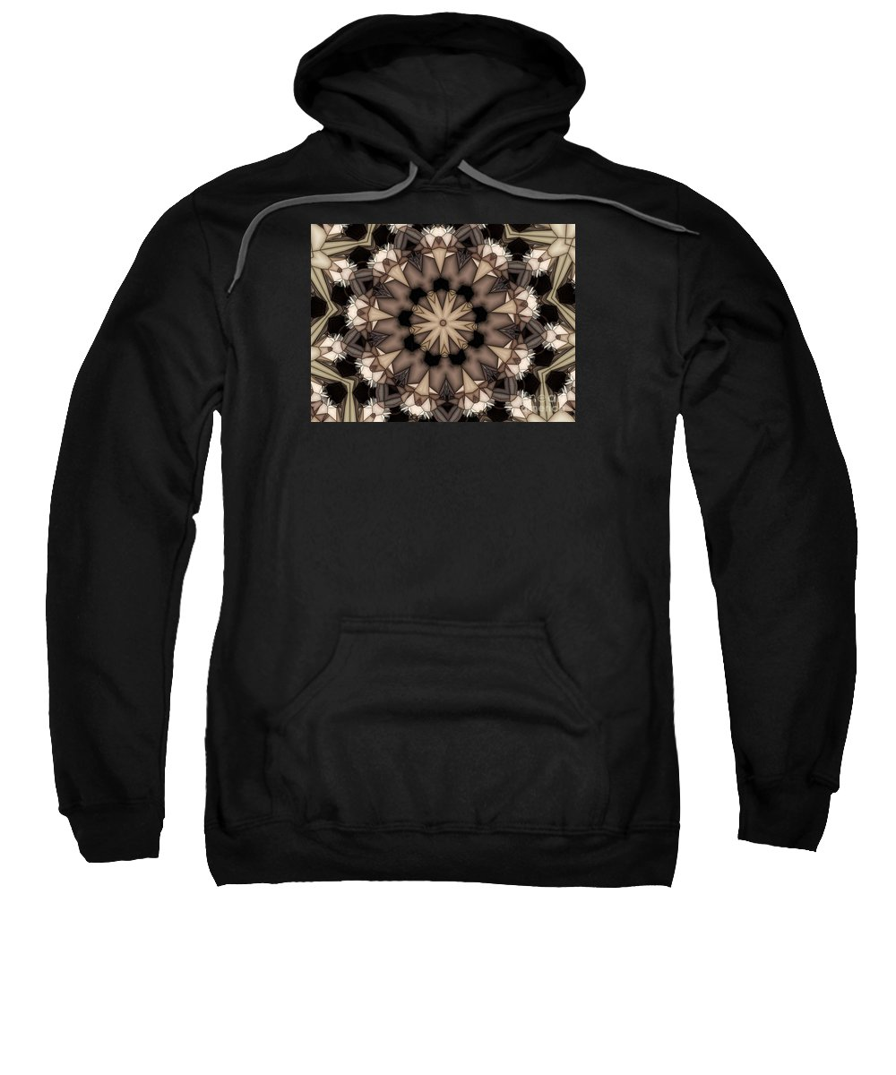 Kaleidoscope Sweatshirt featuring the digital art Kaleidoscope 114 by Ron Bissett