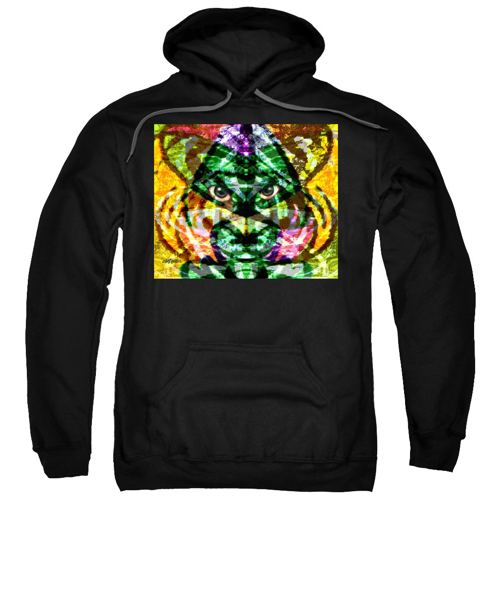 Abstract Sweatshirt featuring the digital art Katmandu by Seth Weaver