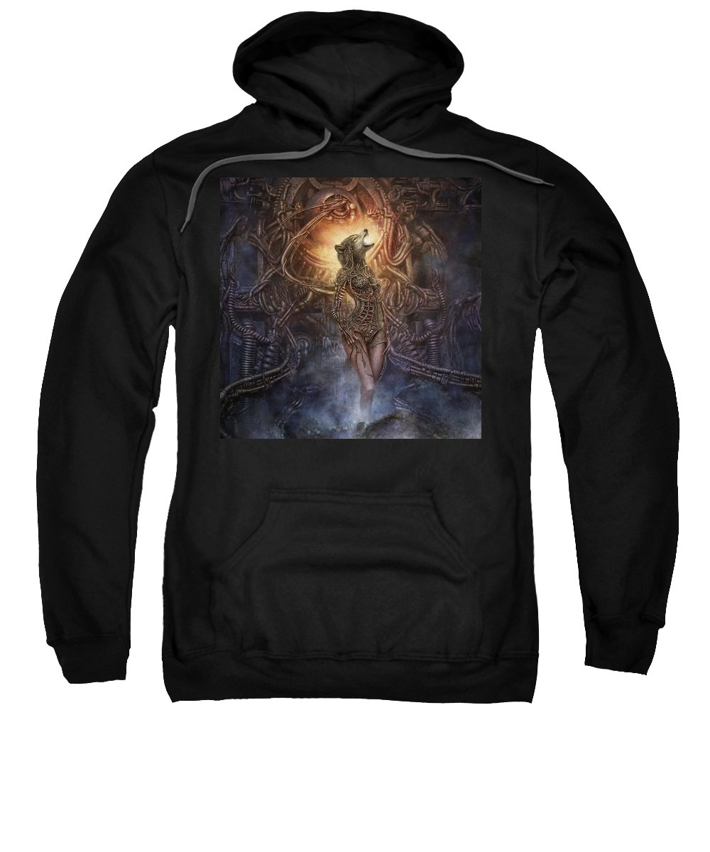 Fantasy Sweatshirt featuring the digital art Kebechets Rebirth by Uwe Jarling