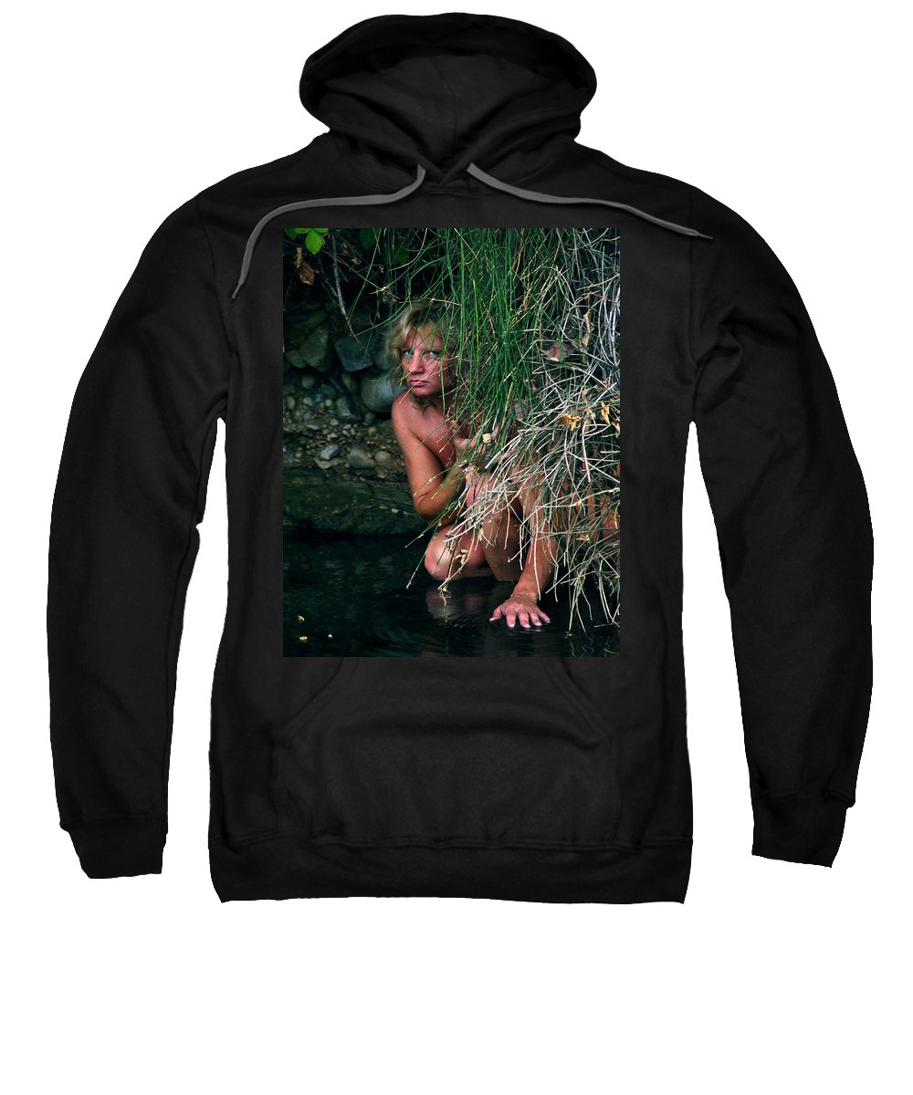 Woman Nude Photo Sweatshirt featuring the photograph Kelly Nude by Peter Piatt