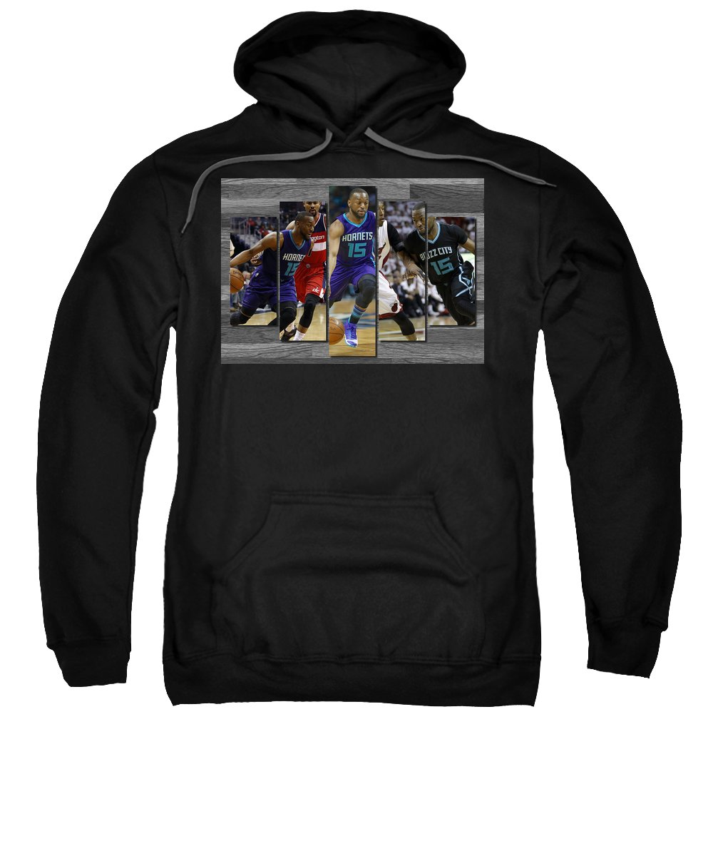 Kemba Walker Sweatshirt featuring the painting Kemba Walker Charlotte Hornets by Joe Hamilton