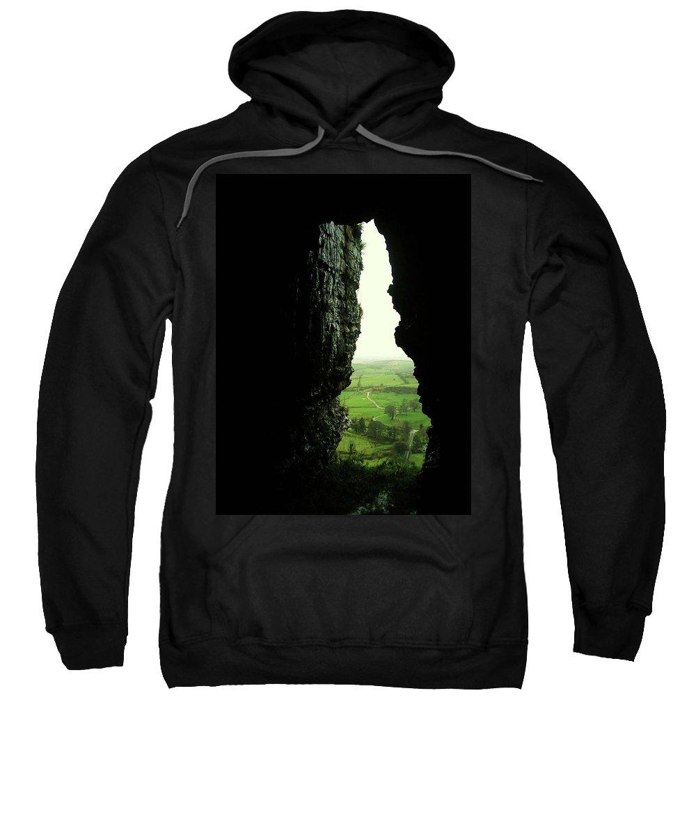 Landscape Sweatshirt featuring the photograph Kesh Caves Co Sligo Ireland by Louise Macarthur Art and Photography