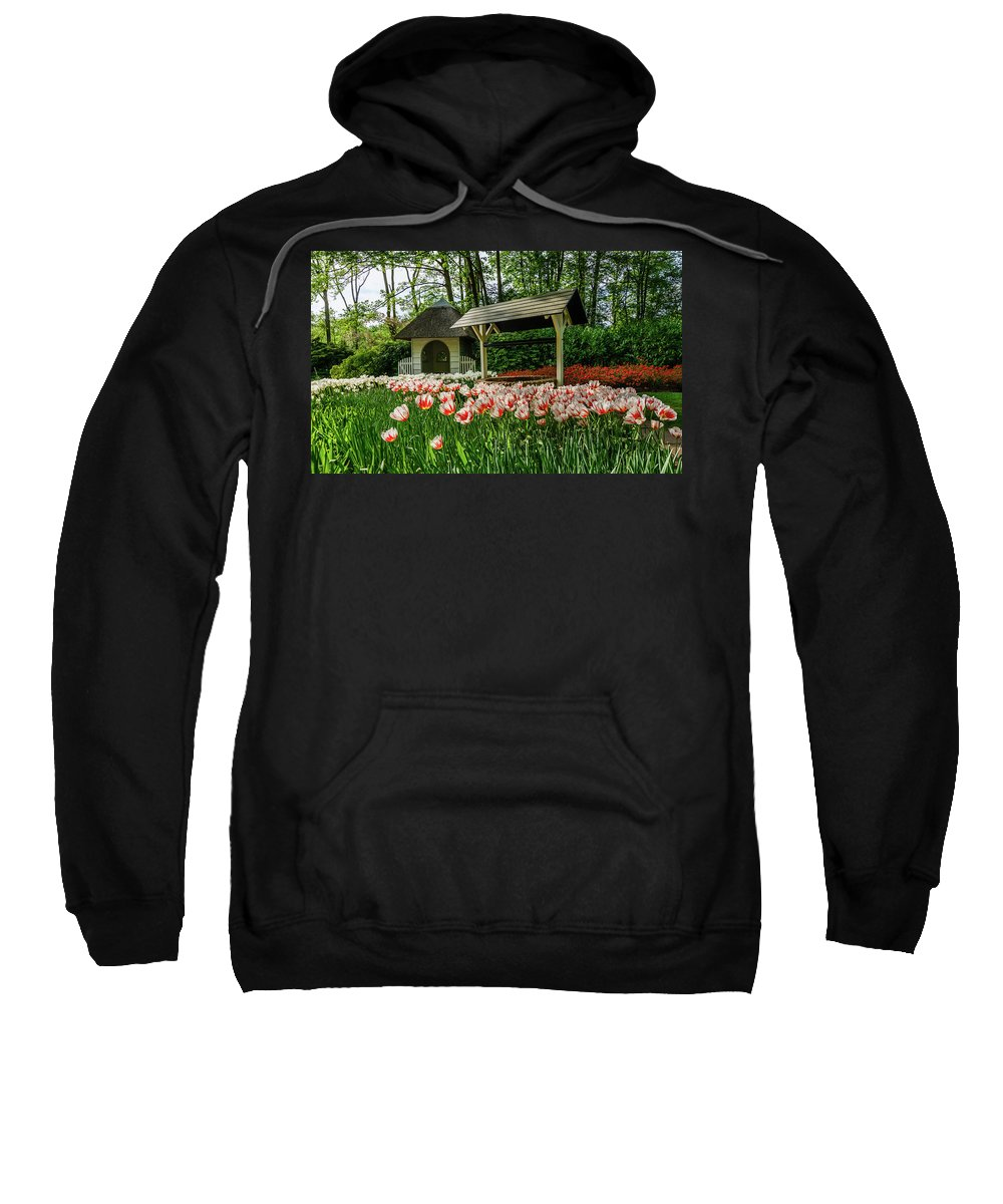 Keukenhof Sweatshirt featuring the photograph Keukenhof Gardens by Alex Lyons