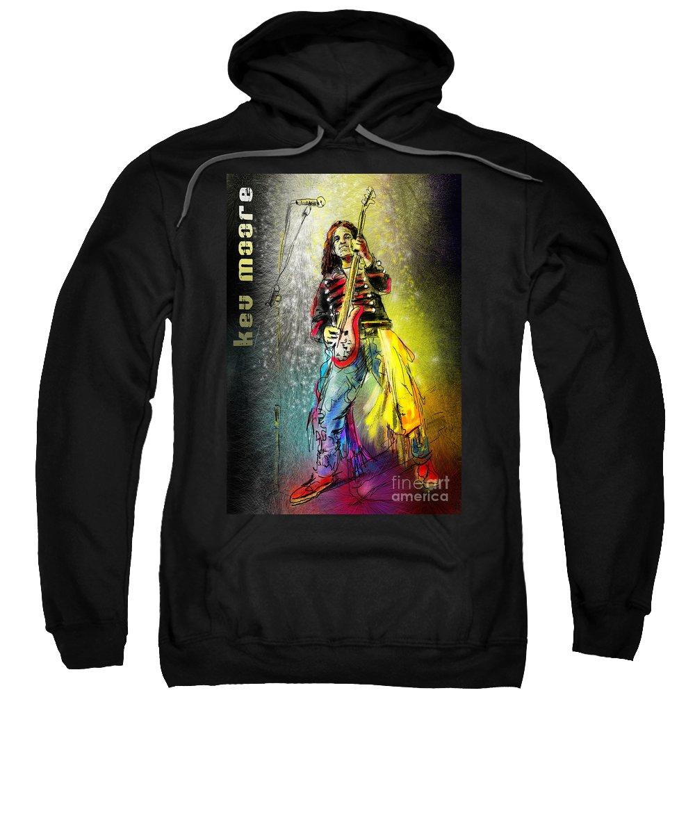 Kev Moore Portrait Sweatshirt featuring the digital art Kev Moore by Miki De Goodaboom