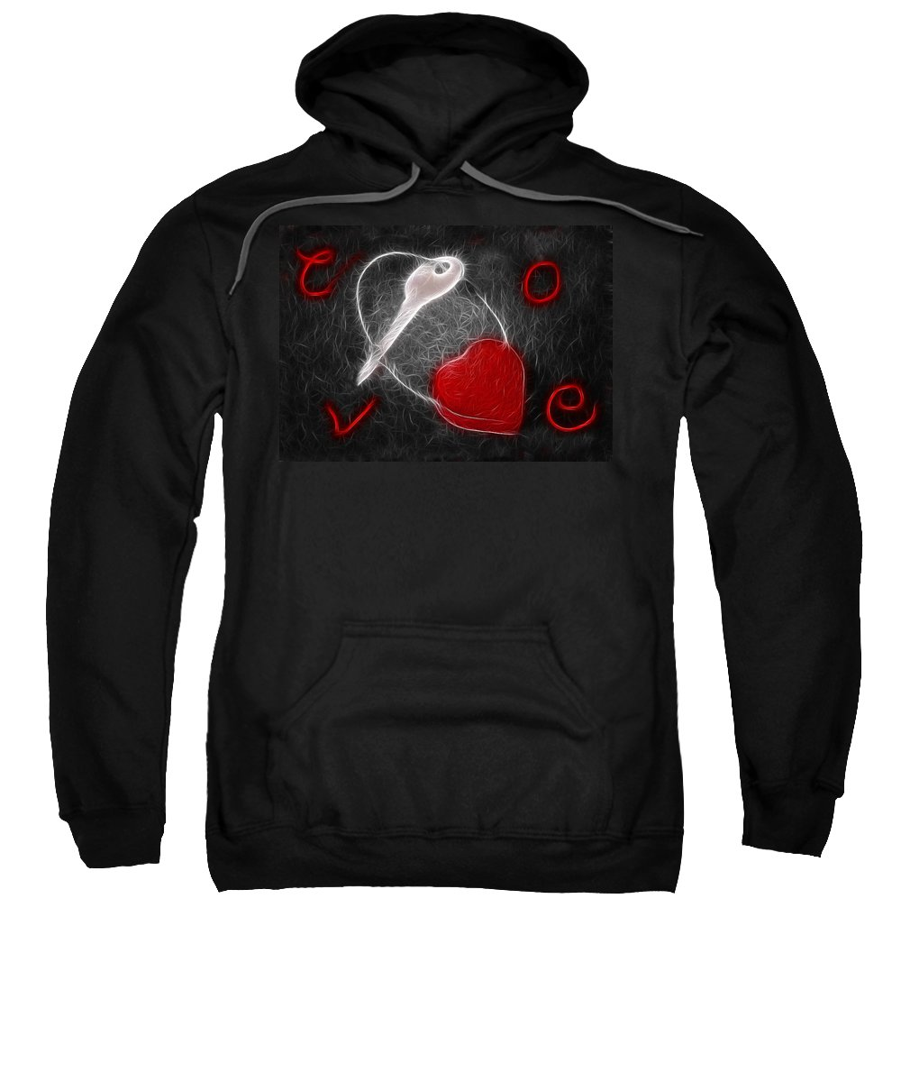 Heart Sweatshirt featuring the photograph Key To The Heart by Manfred Lutzius