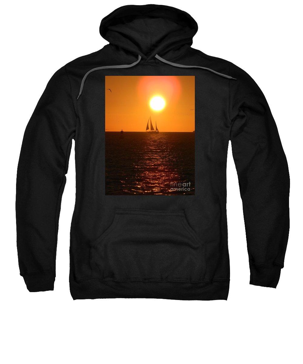 Key West Sweatshirt featuring the photograph Key West Sunset by Neil Zimmerman
