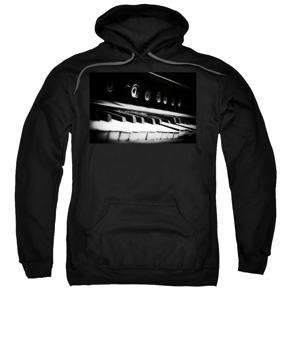 Organ Sweatshirt featuring the photograph Keys Of Old by Scott Wyatt