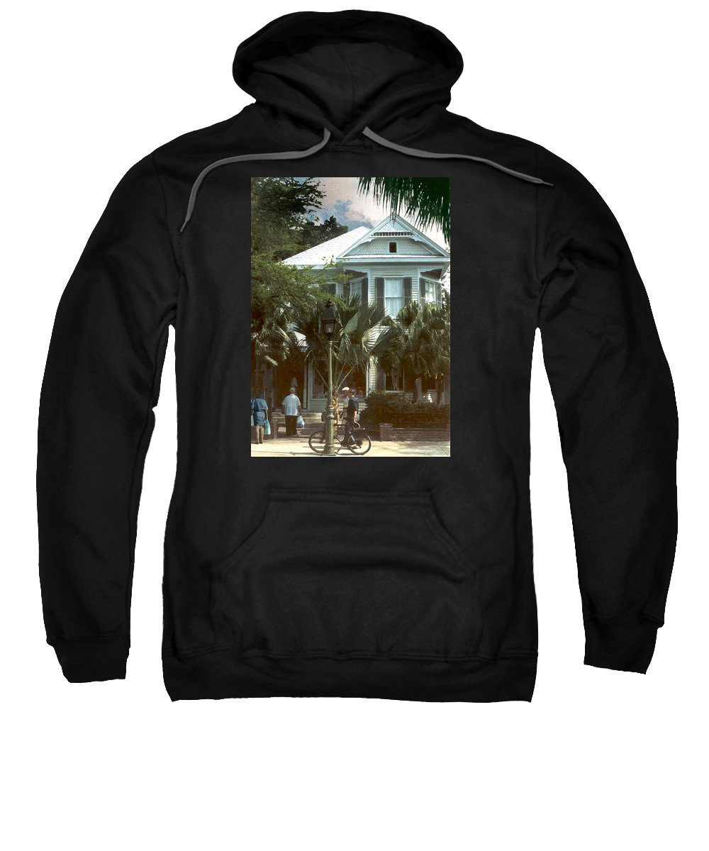 Historic Sweatshirt featuring the photograph Keywest by Steve Karol