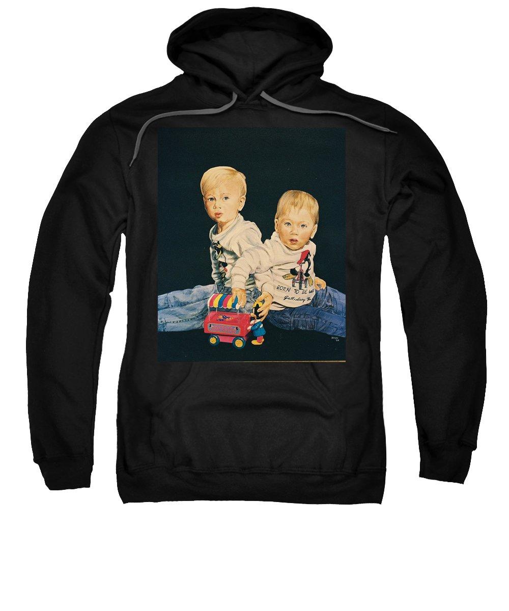 Kids Sweatshirt featuring the painting Kids by Bryan Bustard