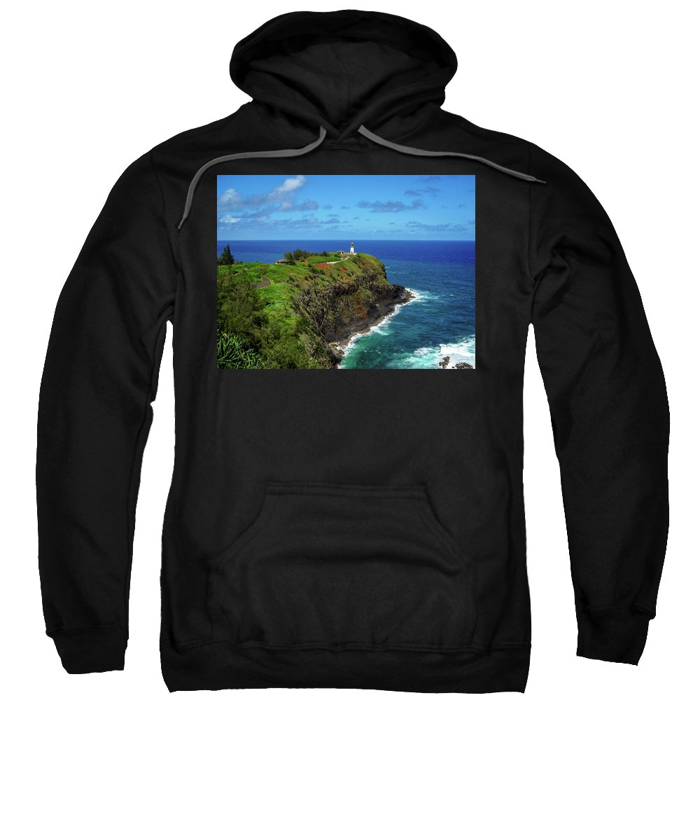 Landscape Sweatshirt featuring the photograph Kilauea Lighthouse by James Eddy