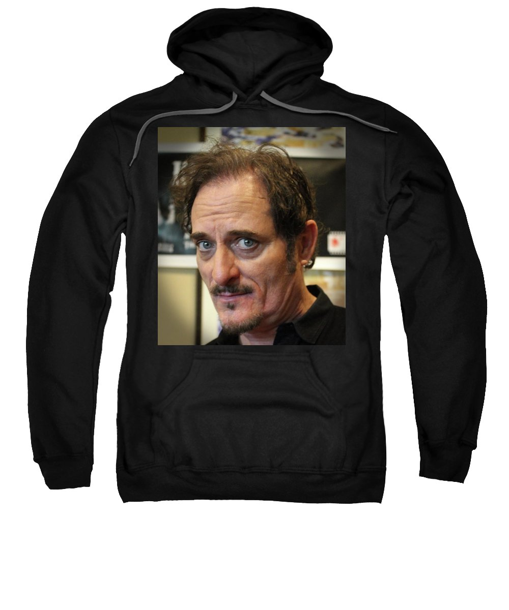 Actor Celebrity Sweatshirt featuring the photograph Kim Coates by Todd Dunham