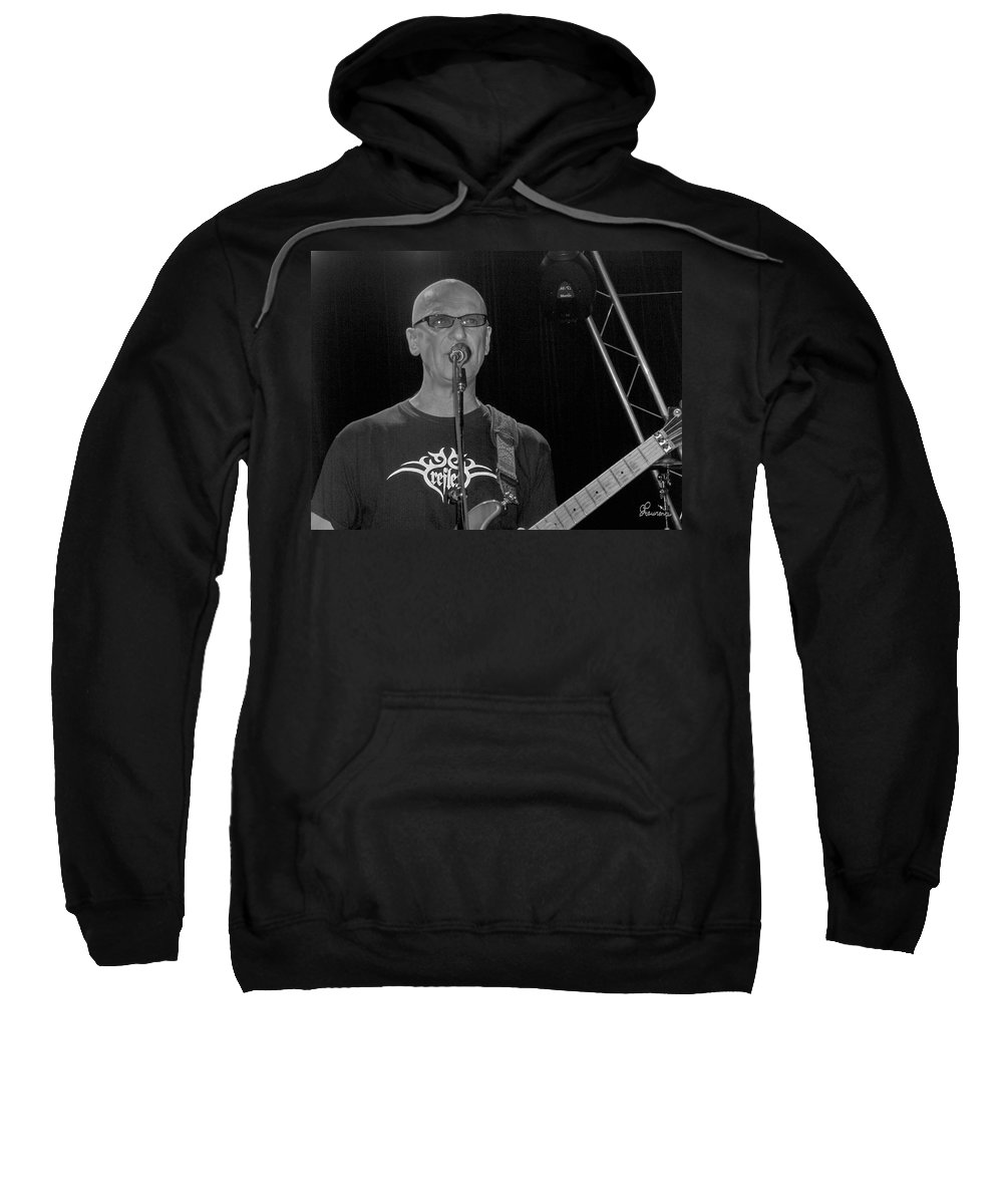 Kim Mitchell Band Rock And Roll Music Concerts Star Lead Singer Sweatshirt featuring the photograph Kim Mitchell by Andrea Lawrence