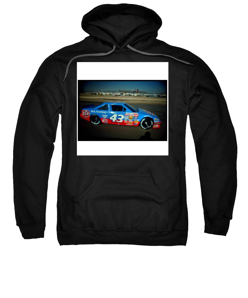Richard Petty Sweatshirt featuring the photograph Kind Richard At Speed by Paolo Govoni