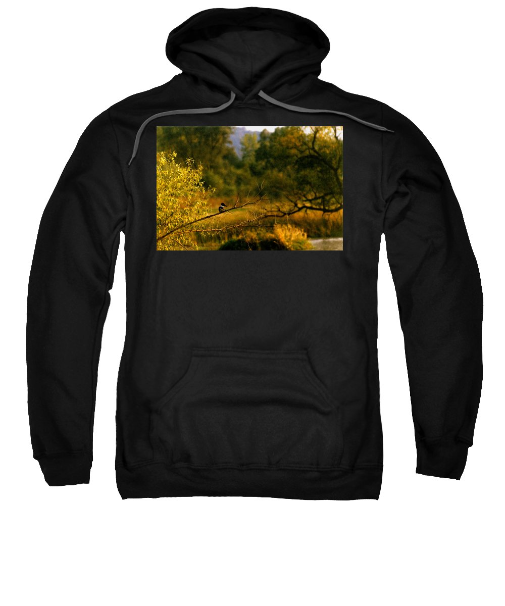Landscape Sweatshirt featuring the photograph King Fisher by Steve Karol