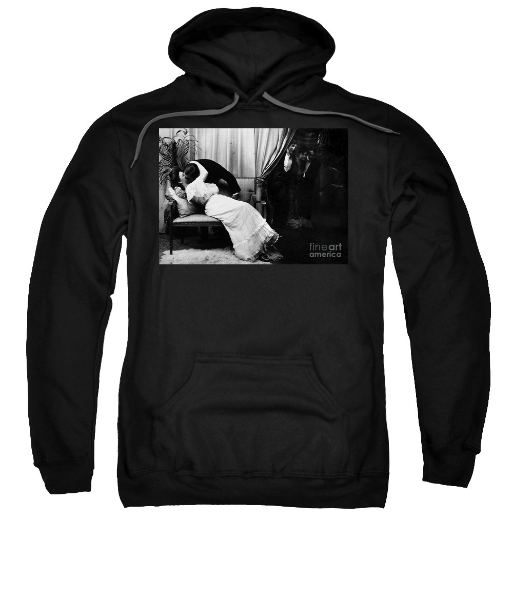 -kissing- Sweatshirt featuring the photograph Kissing, C1900 by Granger