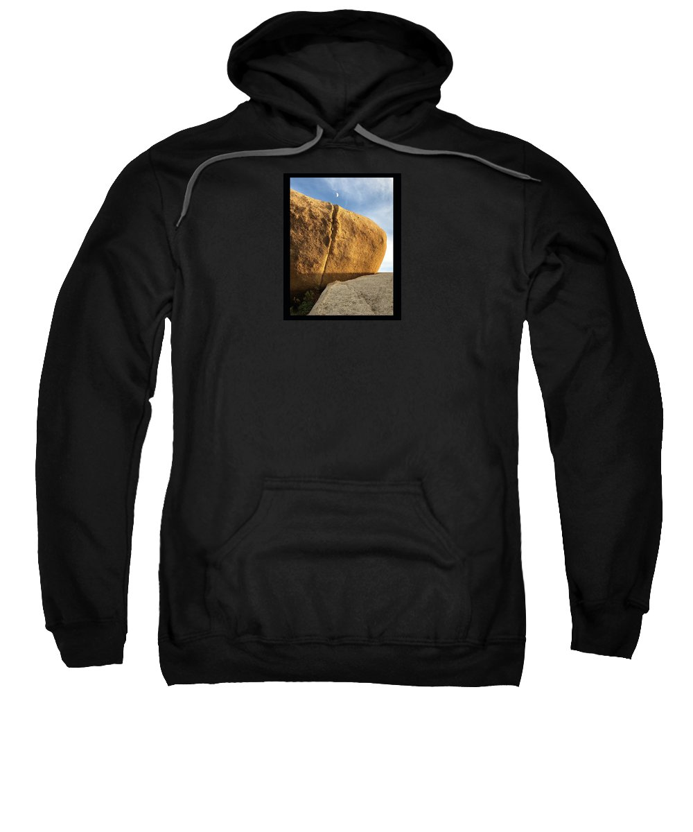 Kissing Sweatshirt featuring the photograph Kissing The Moon by Roger Gordon