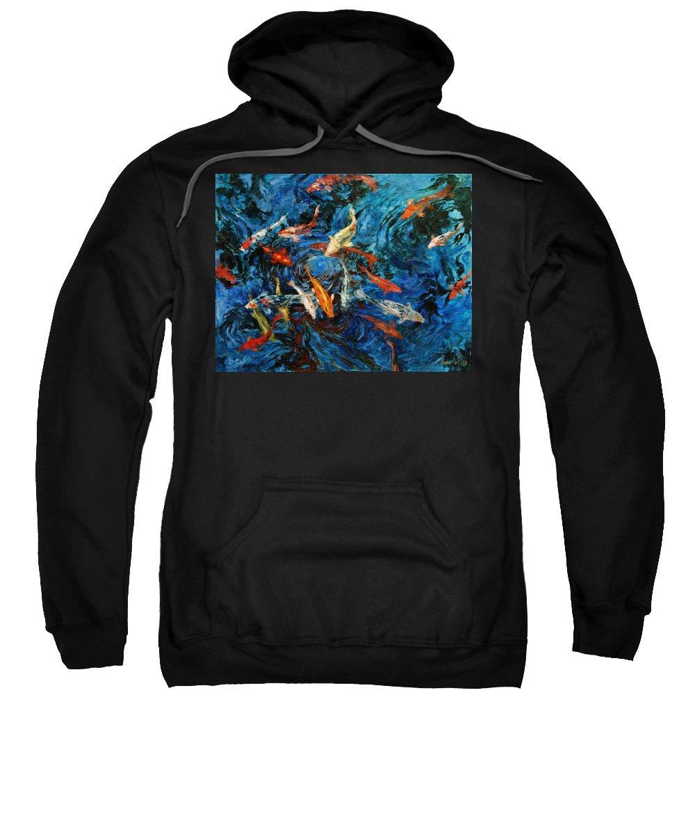 Koi Sweatshirt featuring the painting Koi IIi by Rick Nederlof
