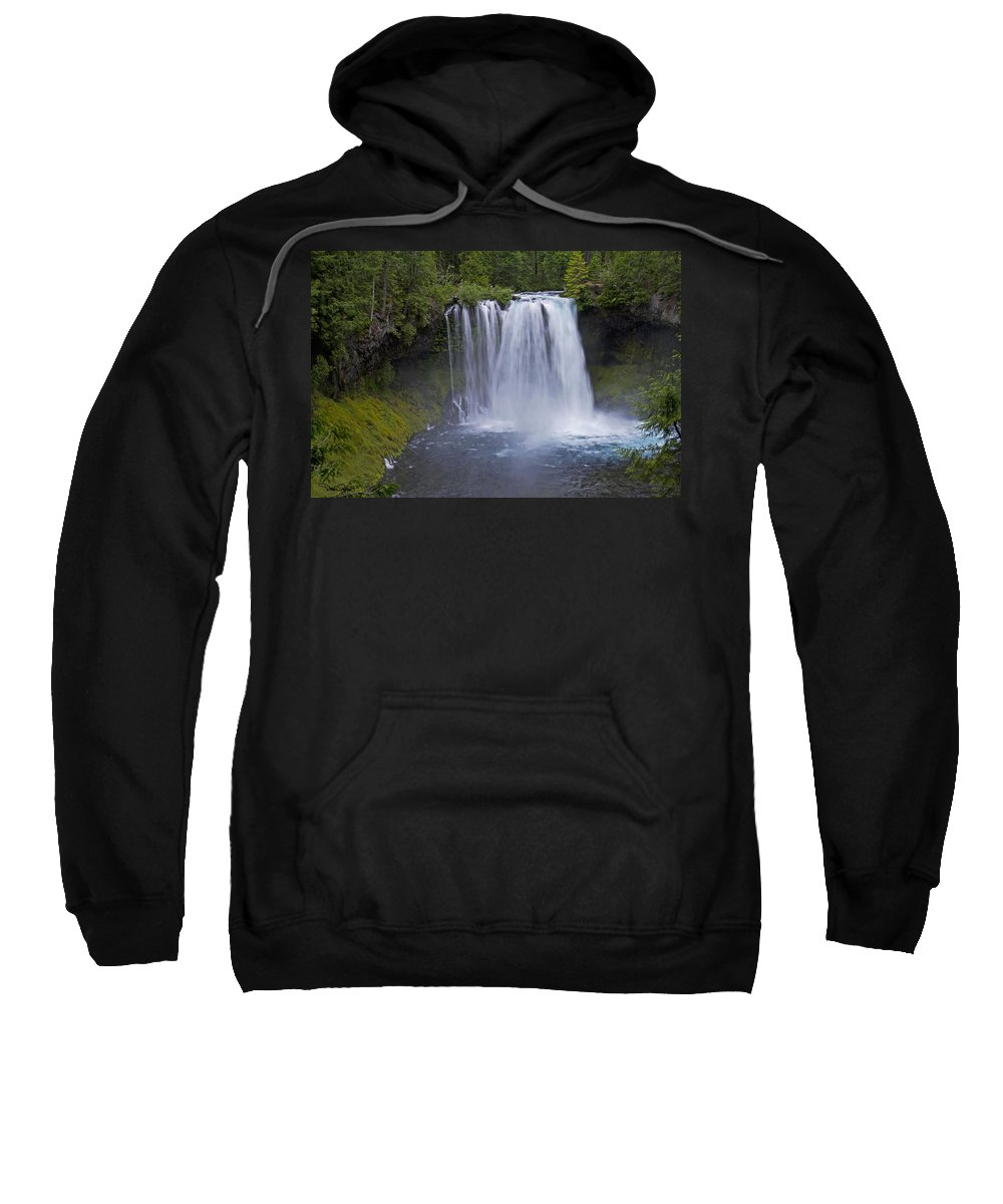 Landscape Sweatshirt featuring the photograph Koosah Falls by David Salter